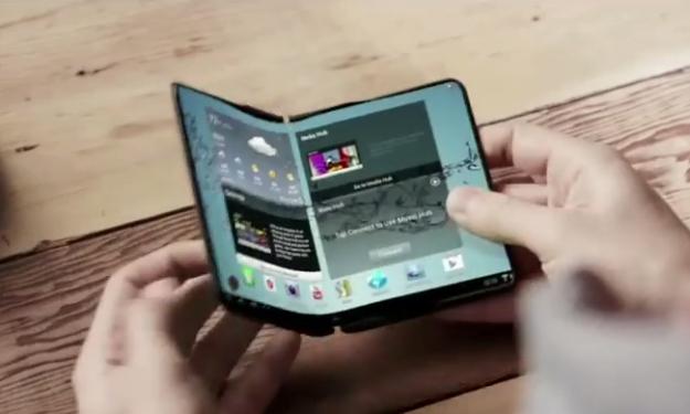 Samsung muscles artificiels smartphones pliables