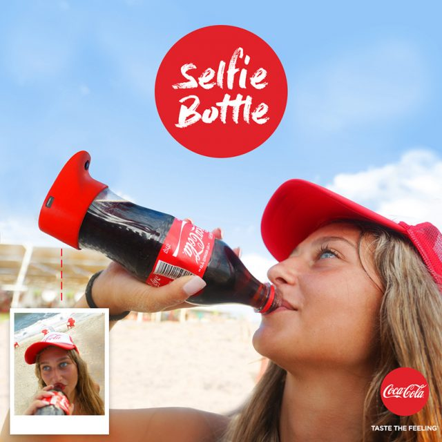 bouteille selfie Coca-Cola