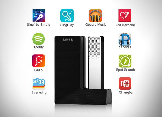 Mini K - Un haut-parleur portatif sans fil Karaoke