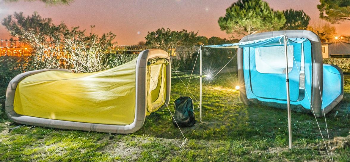 Gentlet dévoile des tentes de camping gonflables