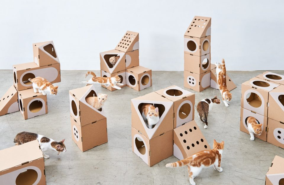 A Cat Thing – L'architecture féline modulaire by Origami & Lego