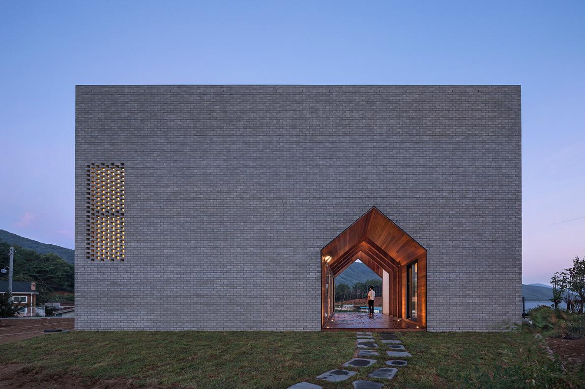 Manhwaricano – Une étonnante maison géométrique en Corée