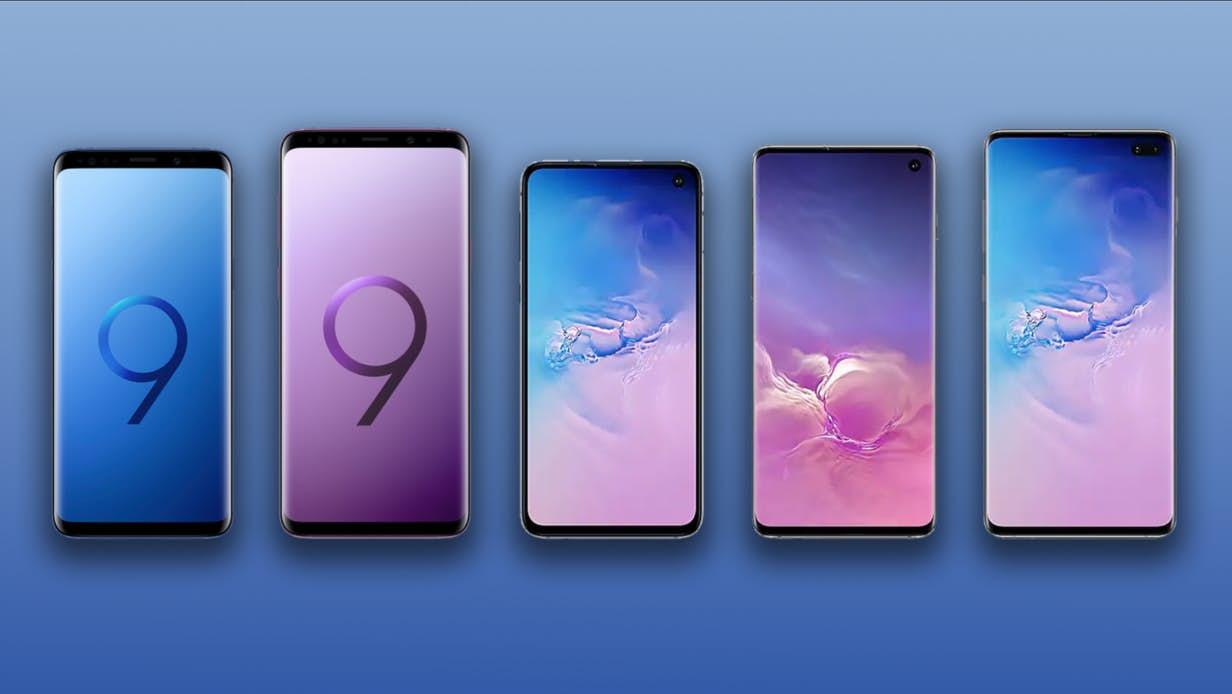 Samsung Galaxy S10e, S10 et S10+ vs Galaxy S9 et S9+