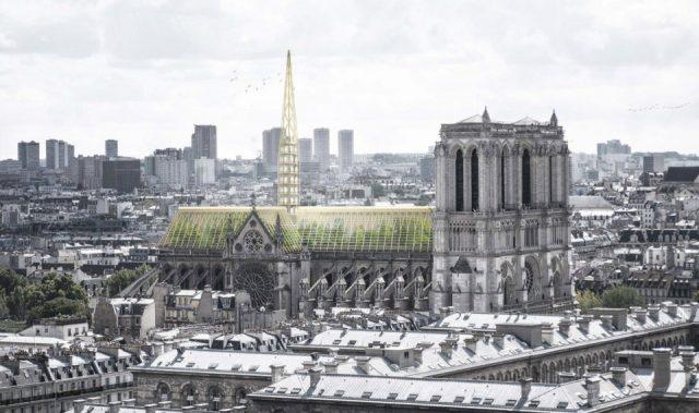 Une serre sur le toit de Notre Dame