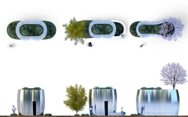AmeniTREES – Les toilettes kiosques Green-Tech de San Francisco 1