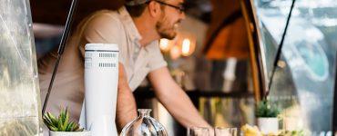 Barmuze dispositif qui clarifie les vins et les spiritueux pour un goût plus doux