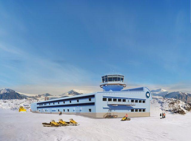 Discovery Building Début les travaux de la base aérodynamique en Antarctique 1