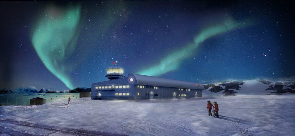 Discovery Building Début les travaux de la base aérodynamique en Antarctique