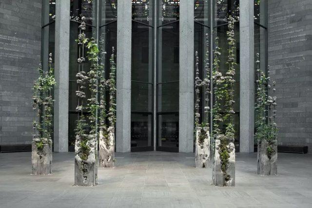 Jaime North crée des sculptures hybrides avec des produits industriels et des plantes