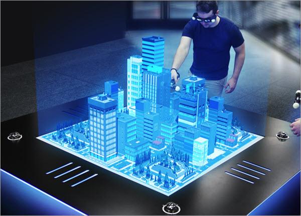 Les lunettes de réalité augmentée à écrans holographiques
