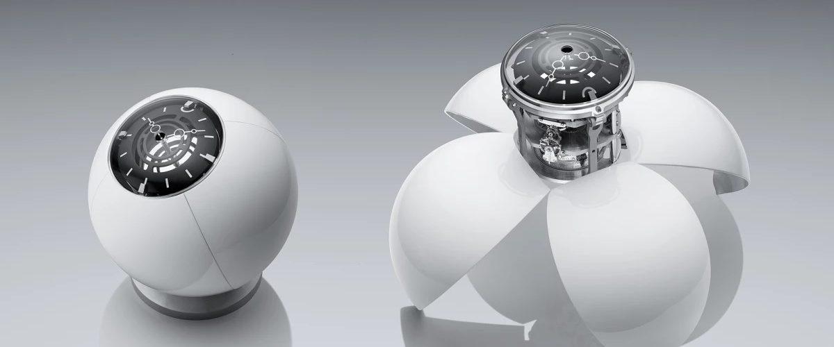 L'étrange horloge Orb de MB&F est inspirée par des yeux et des ailes de scarabée