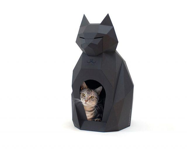 Pulpet - Une maison en papier pour chat ressemble à une belle et élégante sculpture