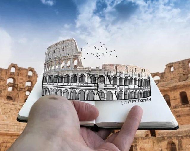 Pietro Cataudella et le Colisée