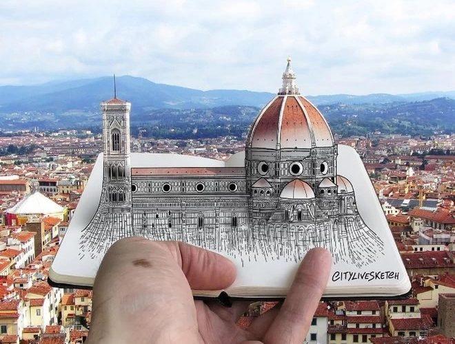 Pietro Cataudella et les vues de Florence