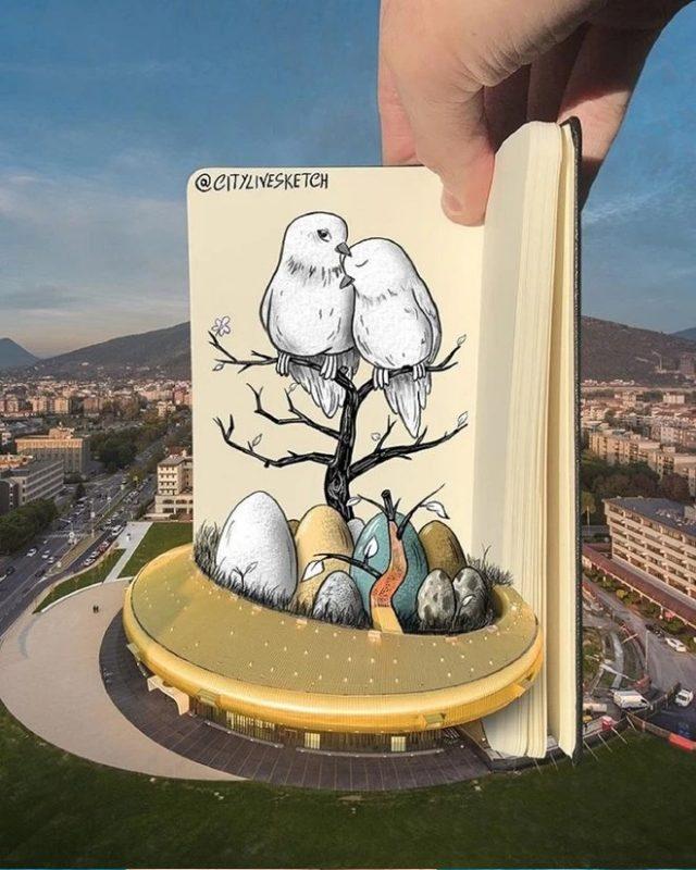 Un immeuble ou un nid d'oiseaux
