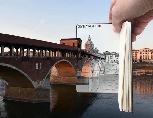 Un pont vers un monde de dessins animés